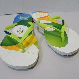 HAVAIANAS Rio 2016 Size 7/8 Women's 39/40 EU Olymp